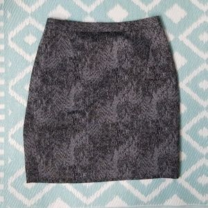 Tahari sz 14  black grey pencil skirt career